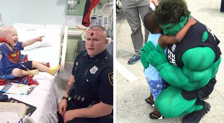 In zijn vrije tijd vermomt deze politieagent zichzelf als een superheld om zieke kinderen te laten lachen