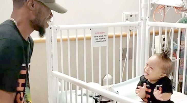 L'enfant de 15 mois est atteint d'une leucémie : le père danse pour lui et parvient à lui offrir des moments de pure bonheur.