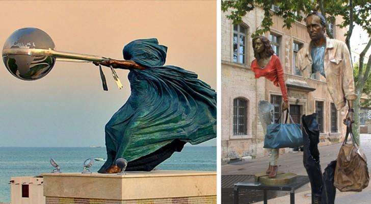 18 sculture poco note che hanno sfidato e sconfitto le regole della gravità