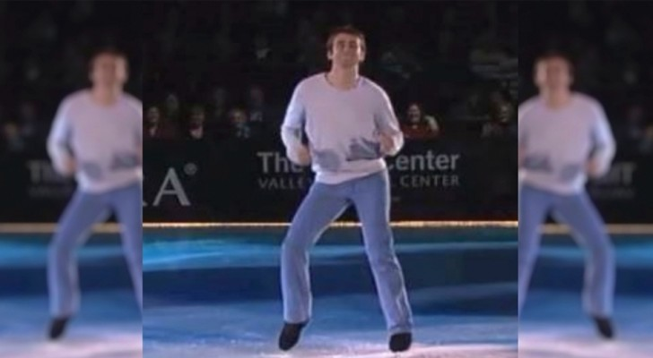 This ice skater brings the choreography of