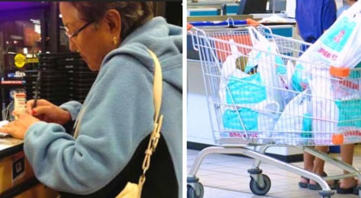 La cassiera offende una donna anziana perché non usa i sacchetti ecologici: lei la mette a tacere in modo geniale