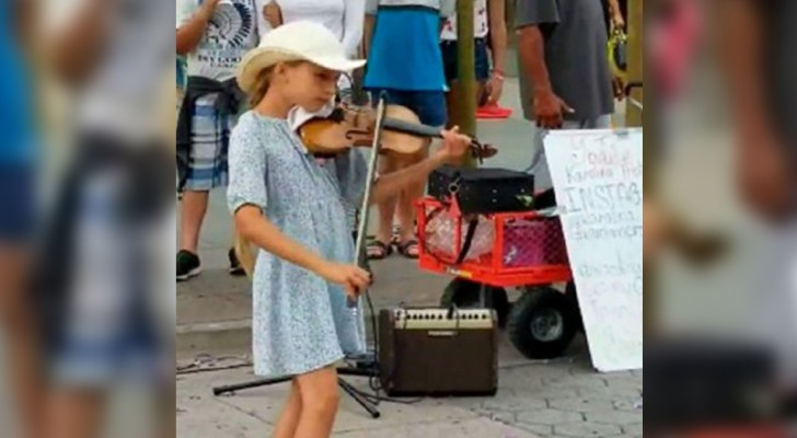 Esta menina de 9 anos toca
