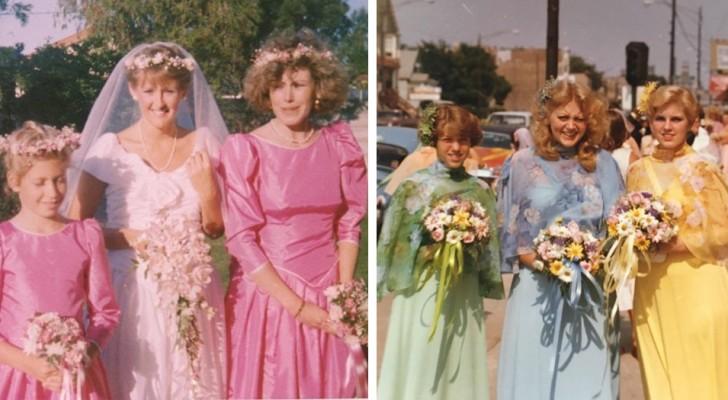 10 foto vintage di matrimoni che vi faranno rendere conto di quanto bizzarre fossero le mode del passato