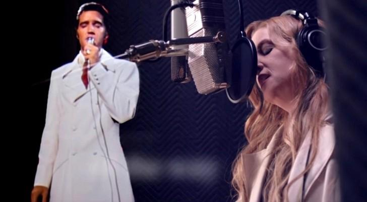 La fille d'Elvis Presley enregistre un Duo avec son père.... et le résultat est de l'émotion à l'état pur...