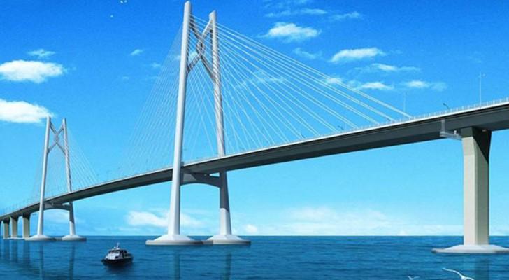 In Cina stanno per inaugurare il ponte più lungo del mondo: sarà lungo 55 chilometri