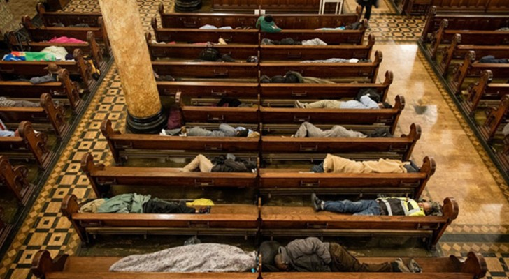 This church hosts 250 homeless people every night so they don't have to sleep on the street