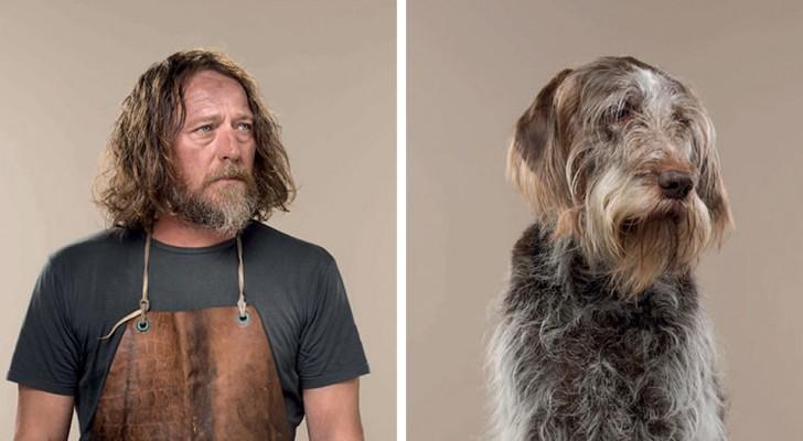 Un fotografo affianca alcuni cani e i loro padroni, e la somiglianza è innegabile!