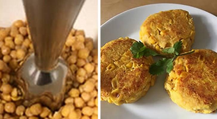 La recette très simple des hamburgers de pois chiches : riches en protéines, savoureux et très peu caloriques.