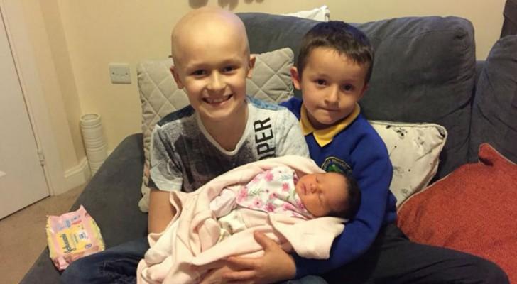 Un bambino combatte fino all'ultimo la sua malattia per poter conoscere la sua sorellina