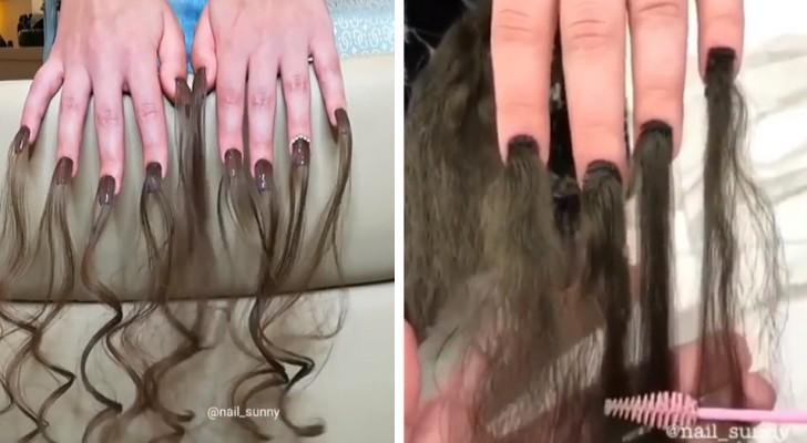In Russia, un salone estetico lancia una nuova moda: unghie con extension di capelli