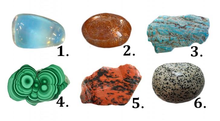 Choisissez une pierre parmi ces six pierres... et découvrez ce qu'elle révèle sur vous.