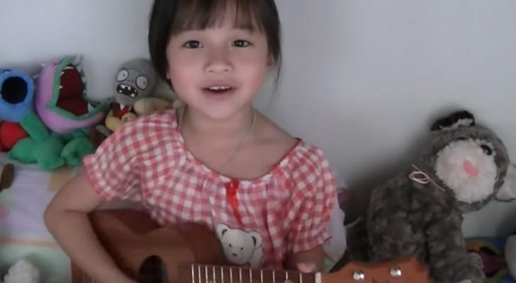La dolcissima Gail canta Bruno Mars con l'Ukulele