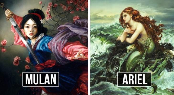 Un'artista immagina i personaggi Disney come dipinti ad olio, e il risultato fa sognare ad occhi aperti