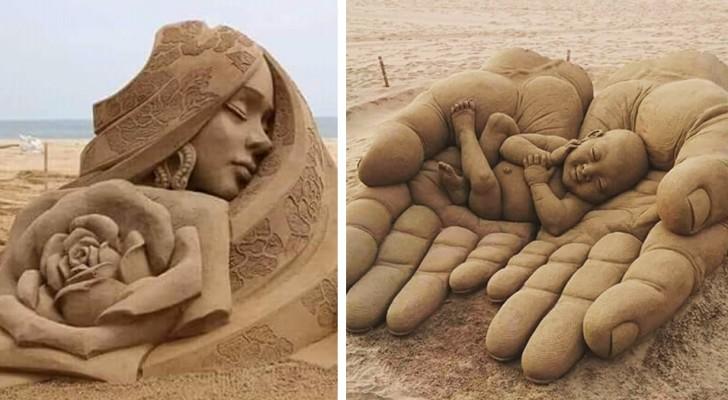 20 eccezionali sculture di sabbia che meriterebbero un posto in un museo