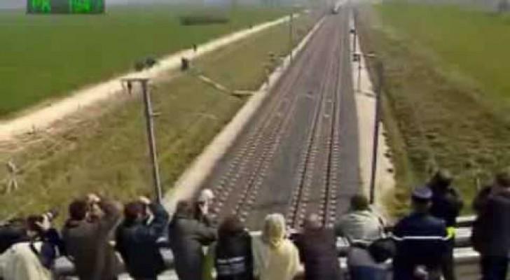 O trem que viaja a 574 km/h