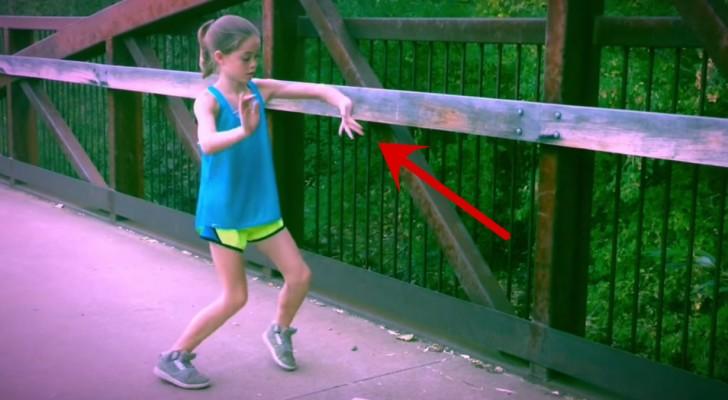 Quedaran asombrados de los extraordiarios movimientos de esta niña