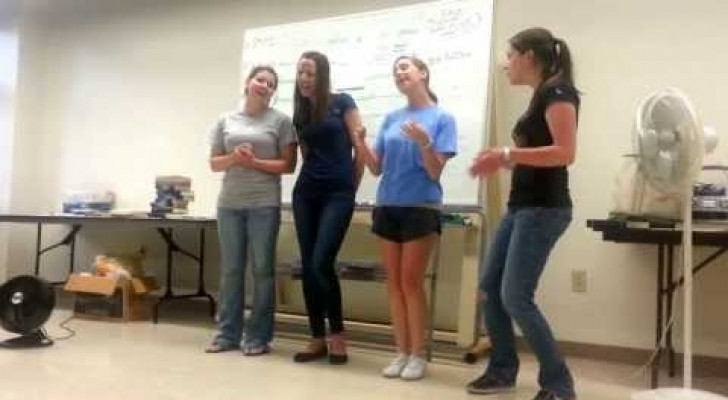 Look at this outstanding performance by these 4 girls during class.