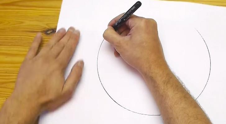 Miren como es posible dibujar un circulo practicamente perfecto a mano libre