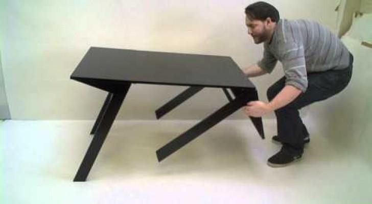 Parece uma mesa normal, mas esconde algo genial!