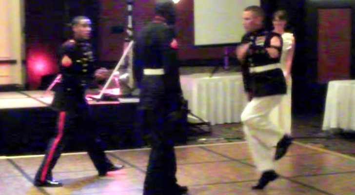Look at these marines break dancing...some of those moves are incredible !