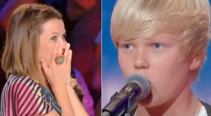 De jury is verrast door de keuze van het nummer, maar zodra hij zijn mond open doet is iedereen SPRAKELOOS!