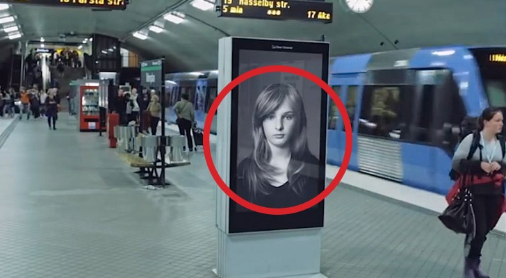 It may  just seem a shampoo ad... but as soon as the train arrives a very important message is delivered !