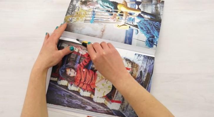 Mira como realizar algo original usando solo una pagina de una revista