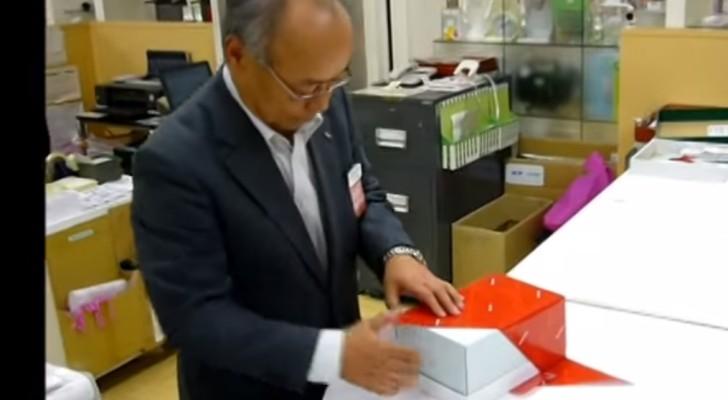 Este es el modo donde vienen envueltos los regalos en Japon. De verdad nada mal.