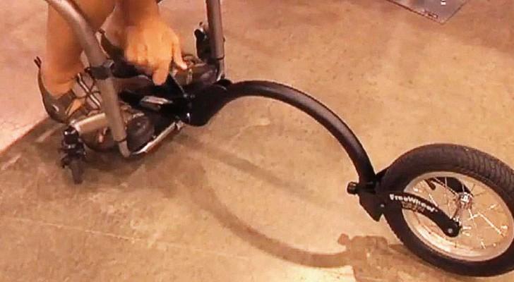 Een man in een rolstoel laat zijn geweldige uitvinding zien!
