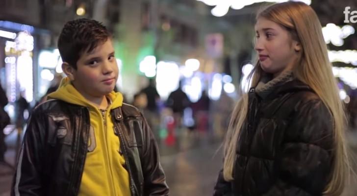 Ze vragen deze jongetjes een meisje te slaan: luister naar hun reactie.