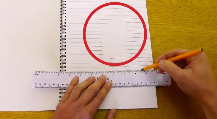 Er malt einfache Linien auf ein Blatt, aber seine Kreation ist FANTASTISCH