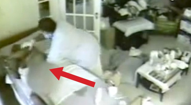 She put a hidden camera and caught her father's caretaker doing this. Horrible images that need to be seen !