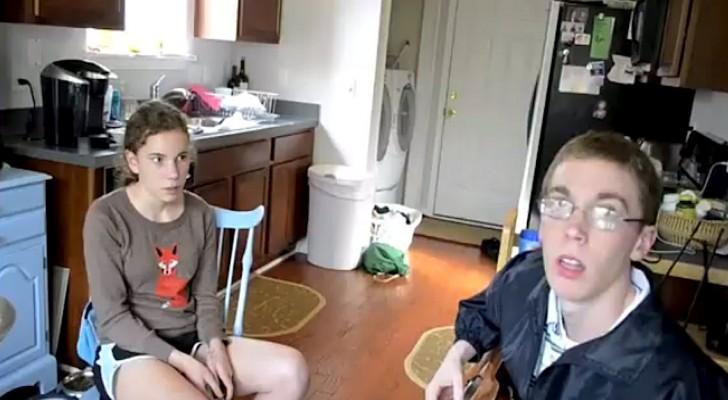 Começa a filmar os seus dois filhos muito tímidos. O vídeo vai deixar vocês sem palavras!
