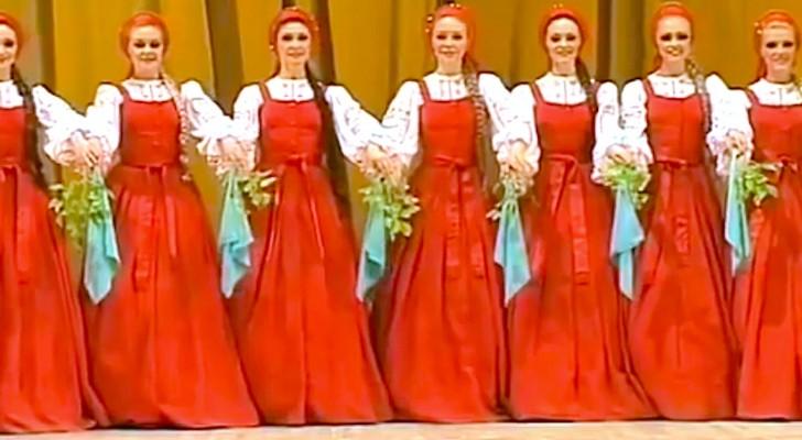 Parece uma dança tradicional, mas espere até que eles comecem a se mexer...