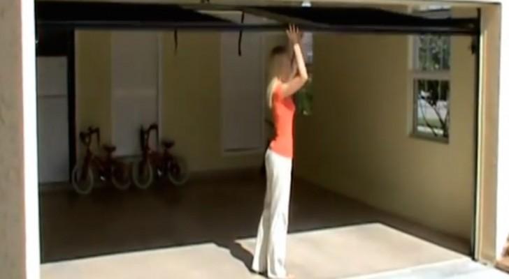 Parece uma garagem como todas as outras, mas basta puxar uma corda para tudo mudar!