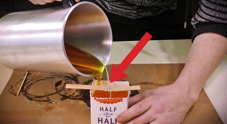Voici comment créer quelque chose de créatif en utilisant de la cire et une brique de lait