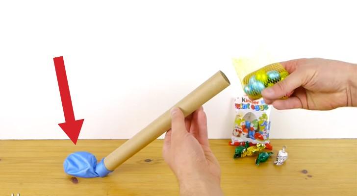 Il remplit un ballon avec des oeufs en chocolat: sa création est délicieuse!