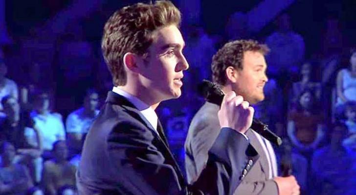 2 spectaculaire mannenstemmen gaan de strijd met elkaar aan op het podium: welke is uw favoriet?