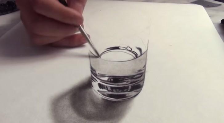 Inizia a disegnare su un foglio bianco... il risultato finale ingannerebbe CHIUNQUE!