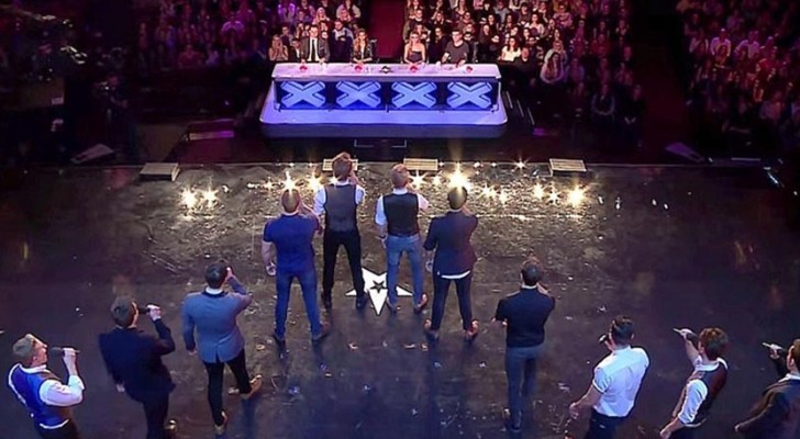 12 men take on the stage: their incredible performance moves the entire studio!