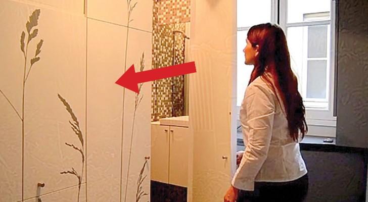 Ze koopt een MINUSCUUL appartement en weet dit op geniale wijze te voorzien van alle gemakken. Wow!