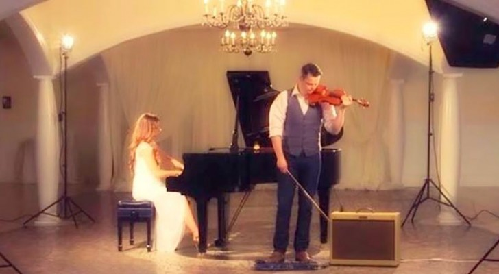 Listen how they transform a classic song with this amazing piano and violin cover !
