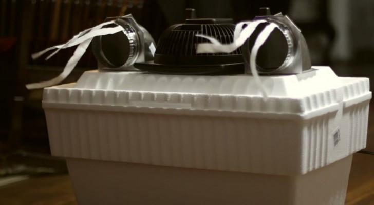 wenig geld und ein originelles design diese diy klimaanlage wird euch berraschen. Black Bedroom Furniture Sets. Home Design Ideas