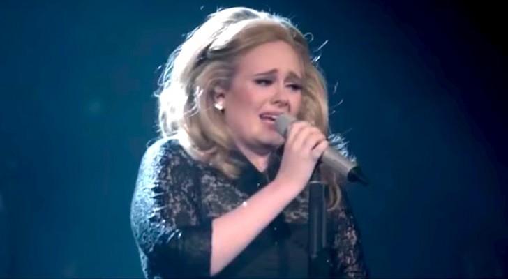 La cantante Adele estalla en lagrimas durante la cancion...el final les dara escalofrios