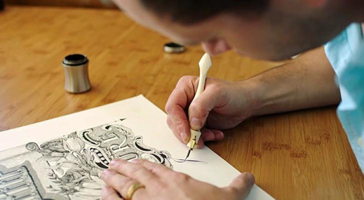 Er zijn ongeveer 12 mensen op de wereld die deze kunst beheersen. Hij is de jongste...