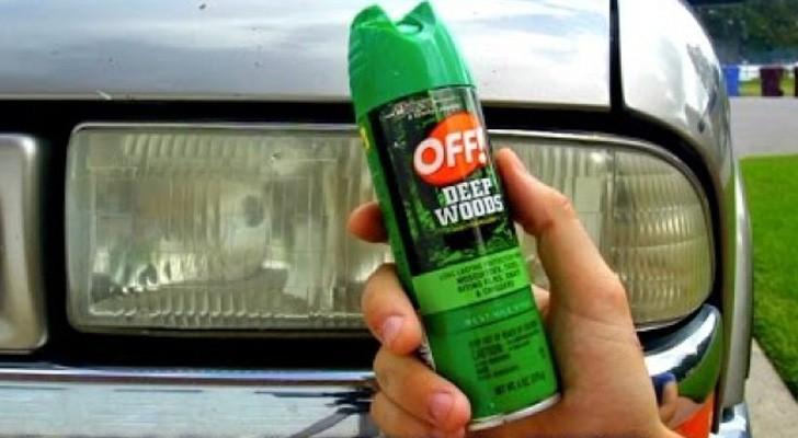 Insecticida spray sobre los faros del auto: descubre este truco que tiene resultados inesperados