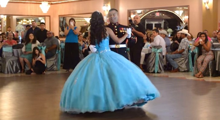 He begins to dance with his daughter's at her birthday party, but what he does shortly after surprising everyone!