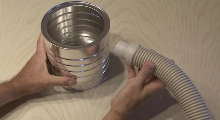 Attacca un tubo a una scatola del caffè e crea un oggetto dall'effetto sorprendente!