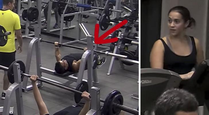 Ein besonderer Athlet kommt ins Fitnessstudio: Als er zu trainieren beginnt, sind alle überrascht