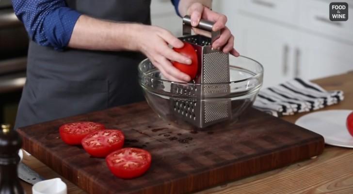 er nimmt rote tomaten und reibt sie ein echt guter trick zum nachmachen. Black Bedroom Furniture Sets. Home Design Ideas
